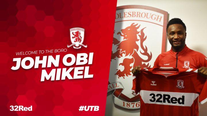 Оби Микел подписал контракт с «Мидлсбро»