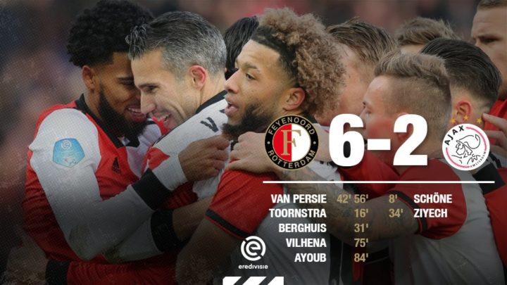 «Фейеноорд» разгромил «Аякс» со счётом 6:2