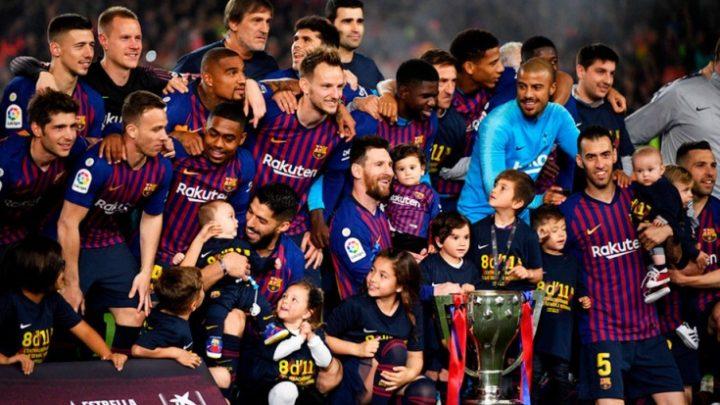 «Барселона» обладательница золотых медалей чемпионата Испании