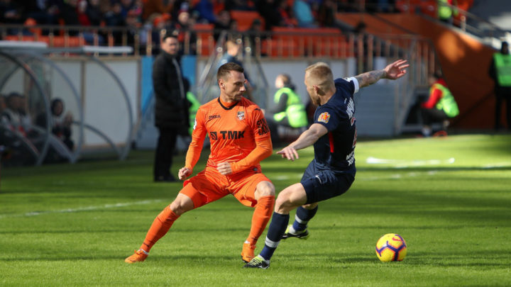 «Урал» вырвал победу у «Енисея», проигрывая в ходе матча со счётом 0:2