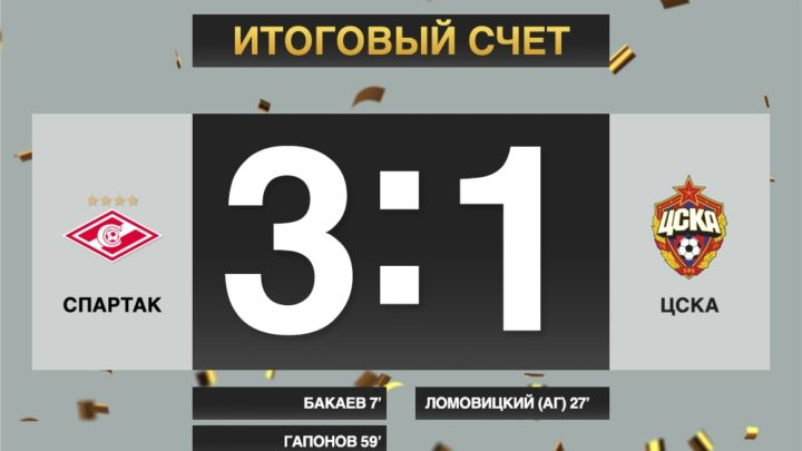 Спартак одержал уверенную победу над ЦСКА в Кубке «Париматч» Премьер 2019