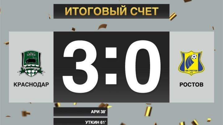 Краснодар переиграл Ростов в Кубке «Париматч» Премьер